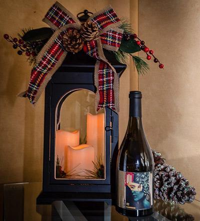 Blank Stare Sauvignon Blanc and Christmas Lantern