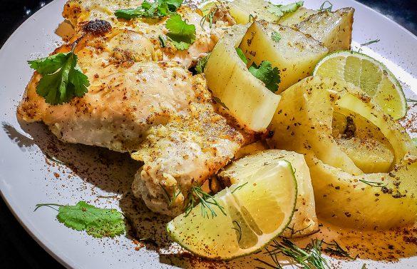Plated Chicken Fennel Dish