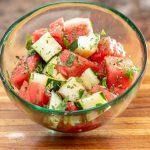 Finished Watermelon Salad