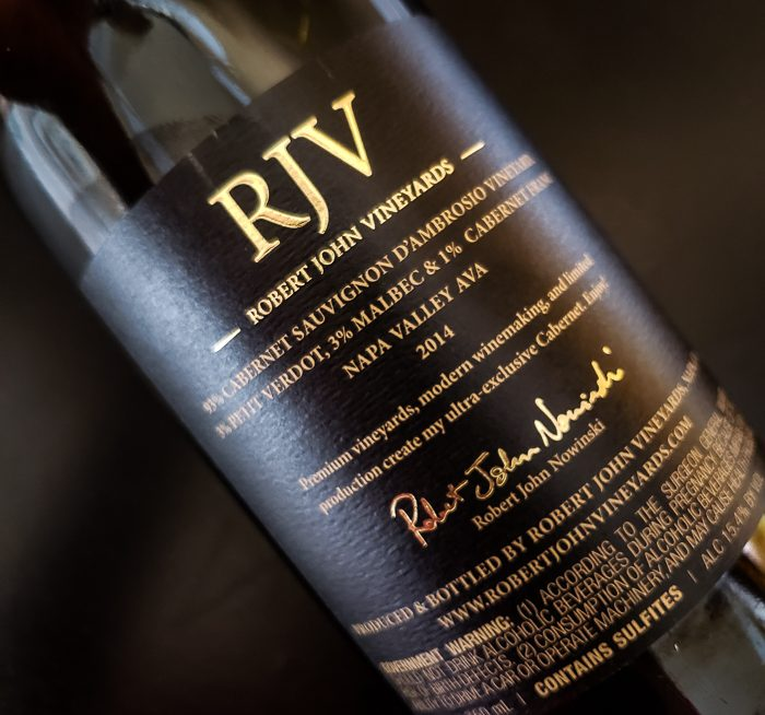 RJV Rear Label