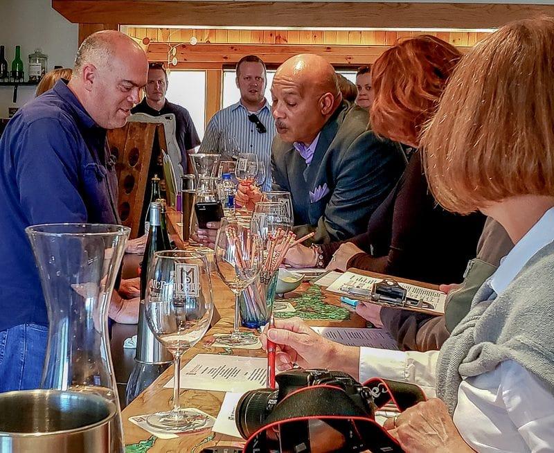 Bloggers tasting wines