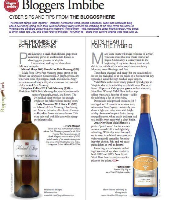 New Kent Winery Vidal Blanc