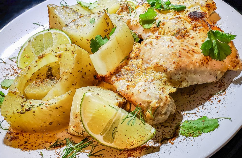 Fennel and Chicken Plated