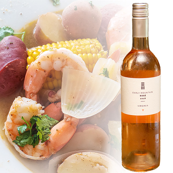 Crab Boil and Wine