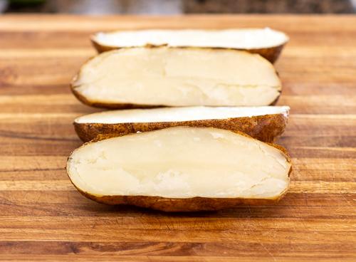 Baked Potatoes Cut in Half