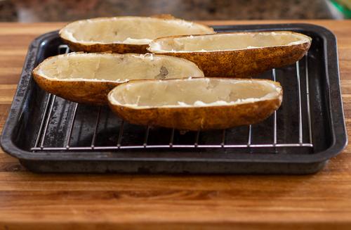 Potatoes on pan