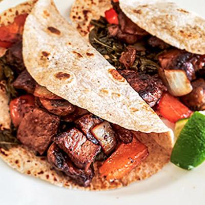 Chunk Beef Collard Taco