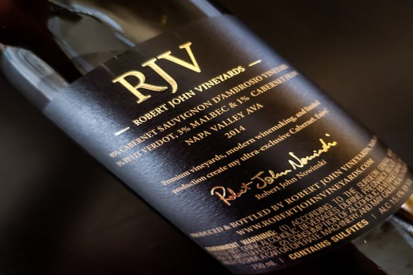 RJV Cabernet Sauvignon Bottle Back