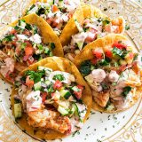 Seafood Street Tacos Plated
