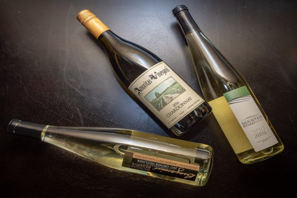 Three Bottles of Michigan Wine