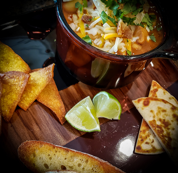 White Bean Chicken Chili Plated