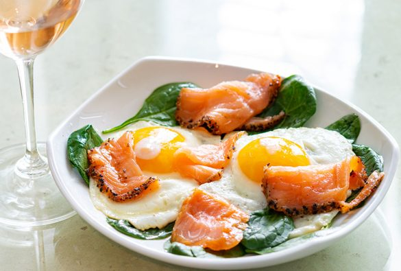Chateau de Campuget Tradition Rosé and Salmon with Eggs