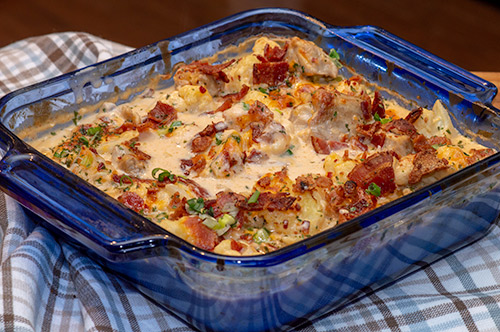 Cauliflower Chicken Cheese Bake