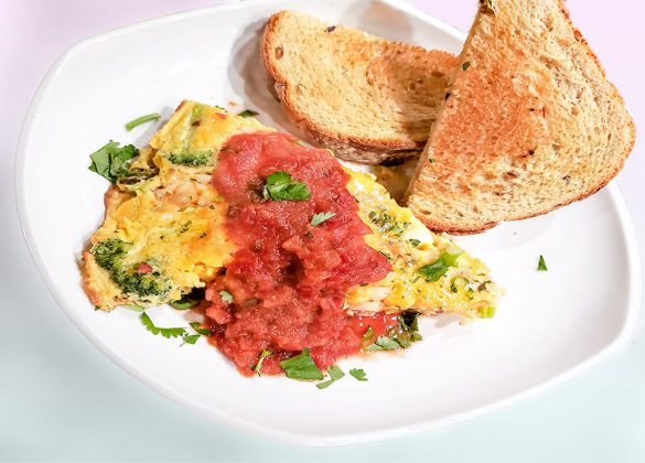 Shrimp and Bacon Frittata
