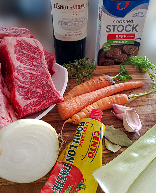 Braised Beef Short Ribs Ingredients