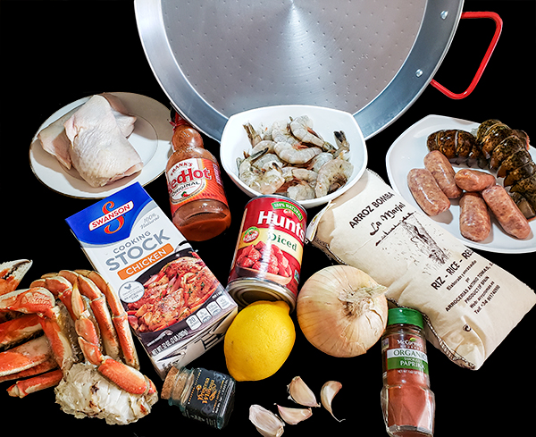 Ingredients for Extreme Grilled Paella