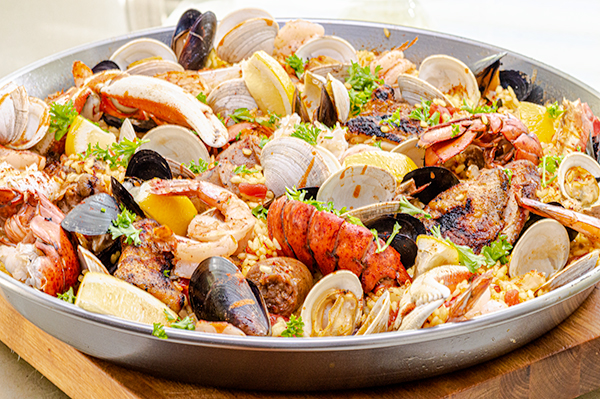 Pan of Extreme Grilled Paella