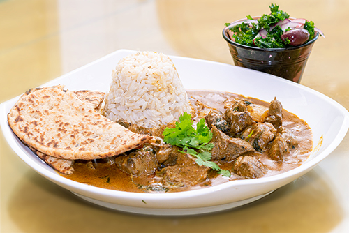 Lamb Curry and Salad