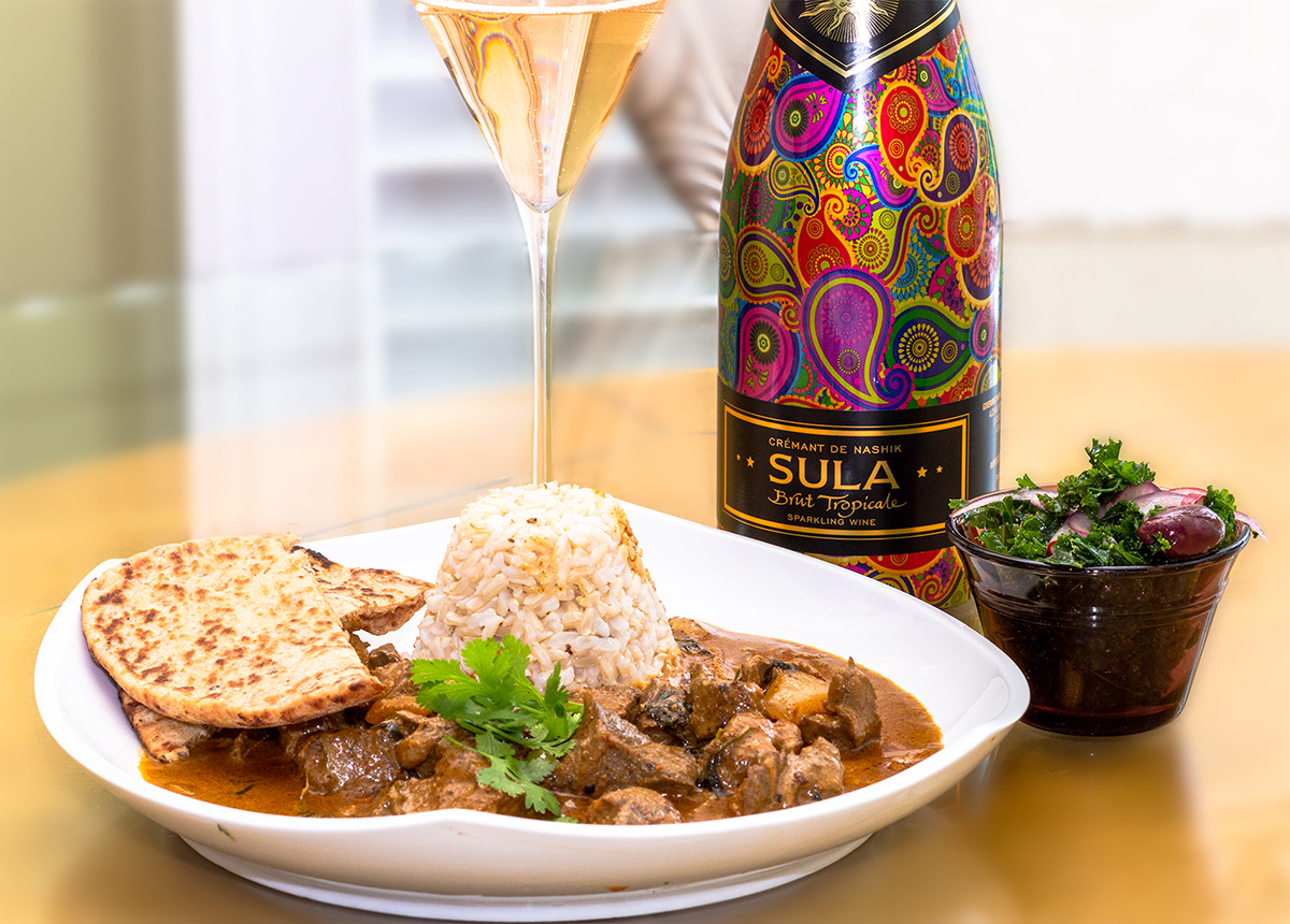 Sula Wine and Lamb Curry