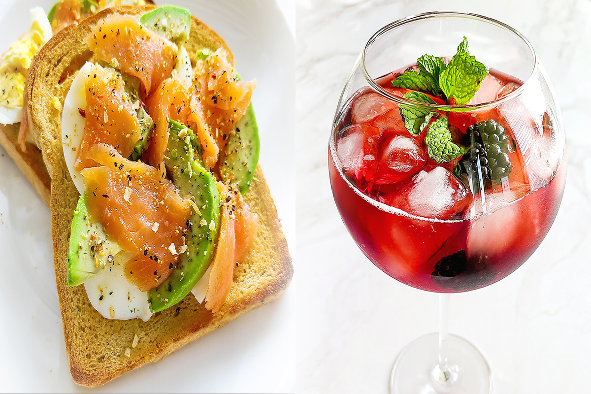 Avocado Toast with Wine